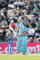 Jonny Bairstow (England) evades a short pitched delivery during England vs West Indies, ICC World Cup Cricket at the Hampshire Bowl on 14th June 2019