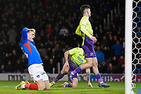 Cameron McGeehan of Portsmouth left rues an early missed chance during Portsmouth vs Exeter City, Leasing.com Trophy Football at Fratton Park on 18th February 2020