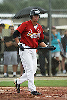 Dylan White, #26 of Sarasota High School, Florida playing for the Cardinals Scout Team during the WWBA World Champsionship 2012 at the Roger Dean Complex on October 25, 2012 in Jupiter, Florida. (Stacy Jo Grant/Four Seam Images).