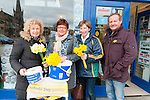 Daffodil Day : Sellers Olwen Keane-Stack & Anne Sheehy pictured with Joanne Clancy & Donal Enright in Listowel  on Friday last.