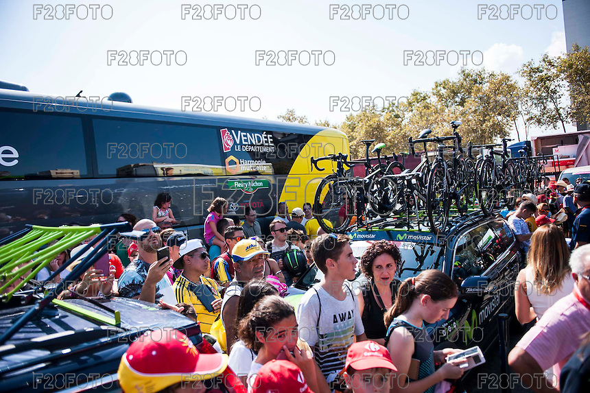 Castellon, SPAIN - SEPTEMBER 7: Fans during LA Vuelta 2016 on September 7, 2016 in Castellon, Spain