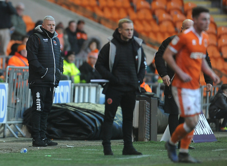 Blackpool's Manager Terry McPhillips<br /> <br /> Photographer Kevin Barnes/CameraSport<br /> <br /> The EFL Sky Bet League One - Blackpool v Walsall - Saturday 9th February 2019 - Bloomfield Road - Blackpool<br /> <br /> World Copyright © 2019 CameraSport. All rights reserved. 43 Linden Ave. Countesthorpe. Leicester. England. LE8 5PG - Tel: +44 (0) 116 277 4147 - admin@camerasport.com - www.camerasport.com
