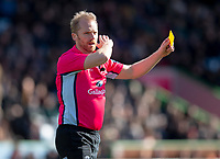 Referee Wayne Barnes<br /> <br /> Photographer Bob Bradford/CameraSport<br /> <br /> Gallagher Premiership - Harlequins v Gloucester Rugby - Sunday 10th March 2019 - Twickenham Stoop - London<br /> <br /> World Copyright &copy; 2019 CameraSport. All rights reserved. 43 Linden Ave. Countesthorpe. Leicester. England. LE8 5PG - Tel: +44 (0) 116 277 4147 - admin@camerasport.com - www.camerasport.com