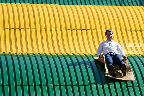 2020 Democratic Presidential Hopeful Peter Buttigieg tours the Iowa State Fair in Des Moines, Iowa on August 13, 2019. Credit: Alex Edelman / CNP