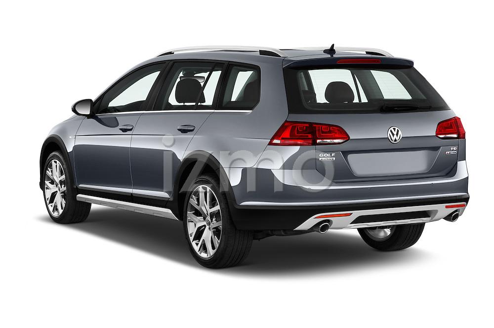 Car pictures of rear three quarter view of 2017 Volkswagen Golf-Alltrack SEL 5 Door Wagon Angular Rear