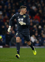 30th November 2019; Turf Moor, Burnley, Lanchashire, England; English Premier League Football, Burnley versus Crystal Palace; Burnley keeper Nick Pope rushes back into position in his box - Strictly Editorial Use Only. No use with unauthorized audio, video, data, fixture lists, club/league logos or 'live' services. Online in-match use limited to 120 images, no video emulation. No use in betting, games or single club/league/player publications