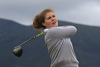 Clarisse Louis (BEL) on the 2nd tee during Round 1 of the Women's Amateur Championship at Royal County Down Golf Club in Newcastle Co. Down on Tuesday 11th June 2019.<br /> Picture:  Thos Caffrey / www.golffile.ie<br /> <br /> All photos usage must carry mandatory copyright credit (© Golffile | Thos Caffrey)