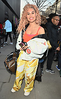 Raye ( Rachel Keen ) at the LFW (Men's) a/w2018 Liam Hodges catwalk show, BFC Show Space, The Store Studios, The Strand, London, England, UK, on Saturday 06 January 2018.<br /> CAP/CAN<br /> &copy;CAN/Capital Pictures