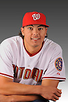 14 March 2008: ..Portrait of Andre Enriquez, Washington Nationals Minor League player at Spring Training Camp 2008..Mandatory Photo Credit: Ed Wolfstein Photo