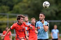 HAREN - Voetbal, FC Groningen - Real Sociedad, voorbereiding seizoen 2017-2018, 02-08-2017,  FC Groningen speler Mimoun Mahi met Guevara
