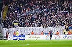 Solna 2014-10-09 Fotboll EM-kval , Sverige - Ryssland :  <br /> Rysslands supportrar med en banderoll under matchen  mellan Sverige och Ryssland <br /> (Photo: Kenta J&ouml;nsson) Keywords:  Sweden Sverige Friends Arena EM Kval EM-kval UEFA Euro European 2016 Qualifier Qualifiers Qualifying Group Grupp G Ryssland Russia supporter fans publik supporters