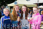 Hannah McGeever, Meadhbh O'Sullivan, Una McGeever and Orlaith O'sullivan enjoying the Flavour of Killorglin festival on Saturday