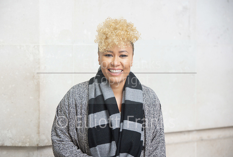 Andrew Marr Show departures<br /> BBC, Broadcasting House, London, Great Britain <br /> 12th March 2017 <br /> <br /> <br /> Emeli Sand&eacute;<br /> Songwriter<br /> leaving the BBC <br /> <br /> Photograph by Elliott Franks <br /> Image licensed to Elliott Franks Photography Services
