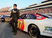 May 2, 2008; Richmond, VA, USA; NASCAR Nationwide Series driver Burney Lamar during the Lipton Tea 250 at the Richmond International Raceway. Mandatory Credit: Mark J. Rebilas-