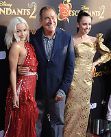 www.acepixs.com<br /> <br /> July 11 2017, LA<br /> <br /> (L-R) Dove Cameron, Kenny Ortega, Sofia Carson arriving at the premiere of Disney Channel's 'Descendants 2' on July 11, 2017 in Los Angeles, California. <br /> <br /> By Line: Peter West/ACE Pictures<br /> <br /> <br /> ACE Pictures Inc<br /> Tel: 6467670430<br /> Email: info@acepixs.com<br /> www.acepixs.com