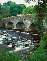 County Wicklow, Ireland          <br /> Avonmore River flows beneath the Clara Bridge (1733) in the Vale of Clara