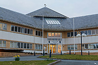 Ceredigion County Council building in Aberaeron, Ceredigion, Wales, UK. Wednesday 21 March 2018