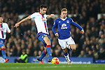 Scott Dann of Crystal Palace and Gerard Deulofeu of Everton in action - Everton vs Crystal Palace - Barclays Premier League - Goodison Park - Liverpool - 07/12/2015 Pic Philip Oldham/SportImage