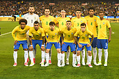 June 9th 2017, Melbourne Cricket Ground, Melbourne, Australia; International Football Friendly; Brazil versus Argentina; Brazil players pose for a photo ahead of the game