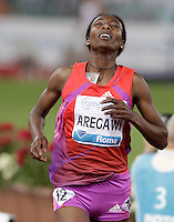 L'etiope Abeba Aregawi vince i 1500 metri donne durante il Golden Gala di atletica leggera allo stadio Olimpico di Roma, 31 maggio 2012..Ethiopia's Abeba Aregawi wins the women's 1500 meters during the IAAF athletic Golden Gala meeting at Rome's Olympic stadium, 31 may 2012..UPDATE IMAGES PRESS/Riccardo De Luca
