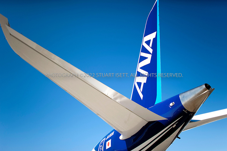 8/8/2011--Everett, WA, USA....Boeing presented the first 787 Dreamliner to launch customer ANA (All Nippon Airways) at Paine Field in Everett, WASH., north of Seattle. The new planes's first commercial flight will be a special charter from Tokyo to Hong Kong...©2011 Stuart Isett. All rights reserved.