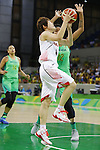 Maki Takada (JPN), AUGUST 8, 2016 - Basketball : <br /> Women's Preliminary Round <br /> between Japan 82-66 Brazil <br /> at Youth Arena <br /> during the Rio 2016 Olympic Games in Rio de Janeiro, Brazil. <br /> (Photo by Yusuke Nakanishi/AFLO SPORT)