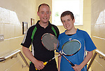 Peter Saul and Ronan Carr were grade 5 winners at the Boyne Badminton Club Battle of the Boyne Finals. Photo: Andy Spearman. www.newsfile.ie