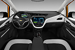 Stock photo of straight dashboard view of a 2019 Chevrolet Bolt EV LT 5 Door Hatchback