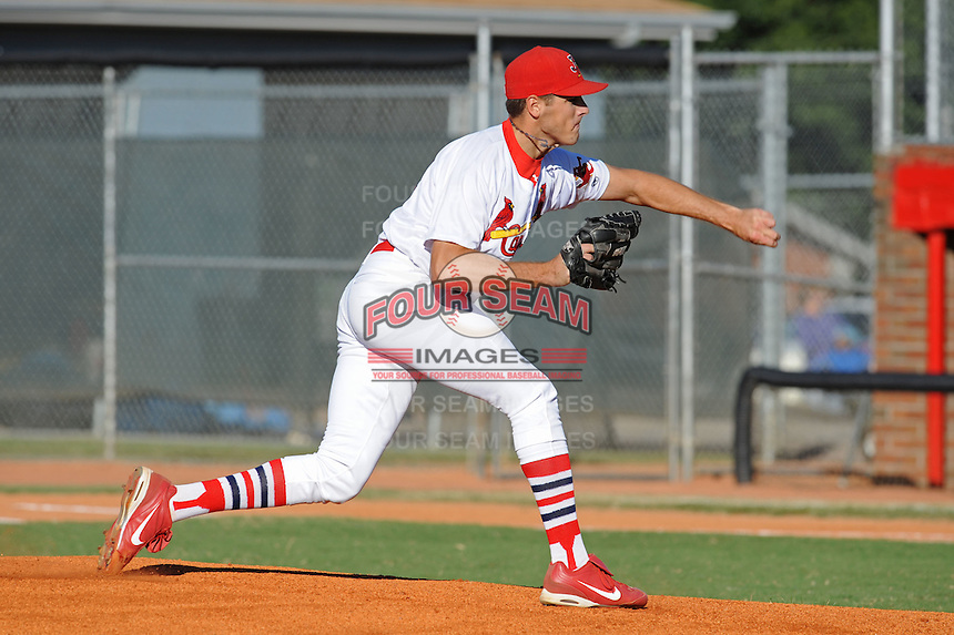 Kevin Siegrist against the Elizabethton Twins  during the Appalachian League Championship. Johnson City  won 6-2 at Howard Johnson Field, Johnson City Tennessee