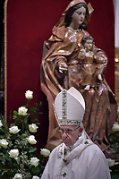 Pope Francis, during the Easter vigil mass in Saint Peter's Basilica, in the Vatican,.April 15,2017