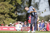 Sergio Garcia (Team Europe) on the 8th tee during the Friday afternoon Fourball at the Ryder Cup, Hazeltine national Golf Club, Chaska, Minnesota, USA.  30/09/2016<br /> Picture: Golffile | Fran Caffrey<br /> <br /> <br /> All photo usage must carry mandatory copyright credit (&copy; Golffile | Fran Caffrey)