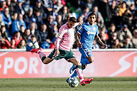 26th January 2020; Coliseum Alfonso Perez, Madrid, Spain; La Liga Football, Club Getafe Club de Futbol versus Real Betis; Joaquin (Betis) lines up a shot on goal