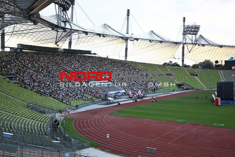 23.06.2010, Olympiapark, Muenchen, GER, FIFA Worldcup, Puplic Viewing Ghana vs Deutschland  im Bild Stadion¸bersicht, Foto: nph /  Straubmeier
