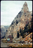 View of Currecanti Needle in Black Canyon.<br /> D&amp;RGW  Black Canyon, Currecanti Needle, CO