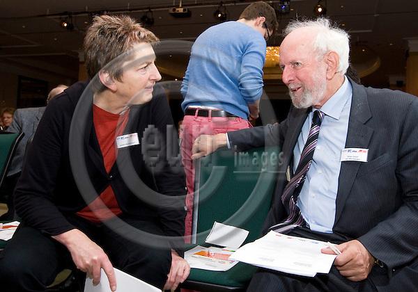 BRUSSELS - BELGIUM - 27 November 2012 -- European Dialogue 2012 - What comes after deregulation and privatisation? -- Annelie Buntenbach, member of DGB and Professor Ernst Ulrich von Weizsaecker. -- PHOTO: Juha ROININEN /  EUP-IMAGES.