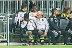 ***BETALBILD***  <br /> Stockholm 2015-05-25 Fotboll Allsvenskan Djurg&aring;rdens IF - AIK :  <br /> AIK:s klubbl&auml;kare Karol Zyto h&aring;ller om AIK:s Ebenezer Ofori p&aring; avbytarb&auml;nken efter en skada under matchen mellan Djurg&aring;rdens IF och AIK <br /> (Foto: Kenta J&ouml;nsson) Nyckelord:  Fotboll Allsvenskan Djurg&aring;rden DIF Tele2 Arena AIK Gnaget  skada skadan ont sm&auml;rta injury pain depp besviken besvikelse sorg ledsen deppig nedst&auml;md uppgiven sad disappointment disappointed dejected
