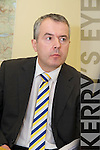GARDAI: Speaking to the media at the Garda Press Conference in Killorglin Garda Station on Monday,Detective Sergeant Dan Keane.