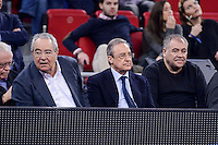 Real Madrid's president Florentino Perez and Antonio Garcia Ferreras during Finals match of 2017 Mini King's Cup at Fernando Buesa Arena in Vitoria, Spain. February 19, 2017. (ALTERPHOTOS/BorjaB.Hojas) /NortEPhoto.com