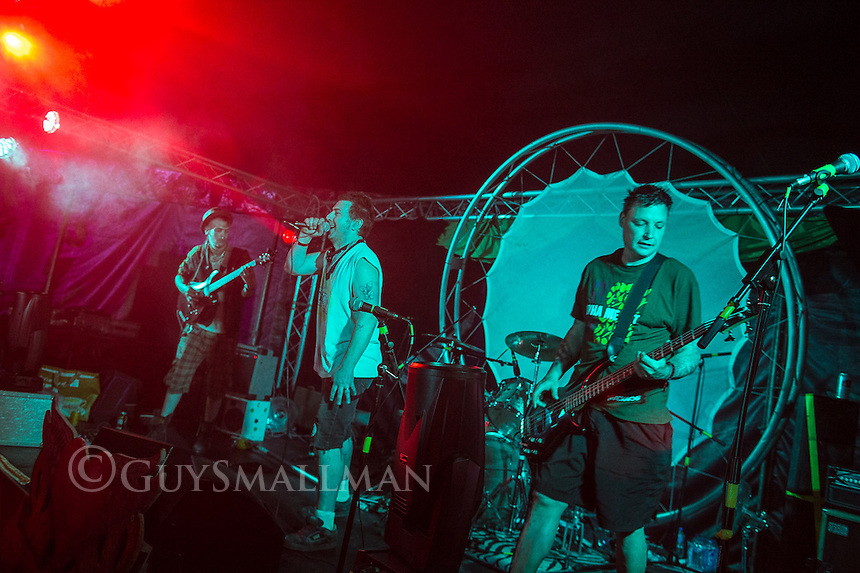 The Sporadics onstage.