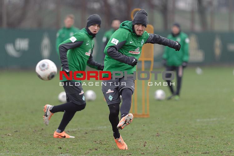 22.01.2014, Trainingsgelaende, Bremen, GER, 1.FBL, Training Werder Bremen, im Bild Luca Caldirola (Bremen #3)<br /> <br /> Foto &copy; nordphoto / Frisch