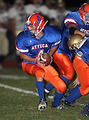 Notre Dame Fighting Irish of Batavia varsity football against the Attica Blue Devils in week two off the Genesee Region season at Attica High School on September 11, 2009 in Attica, New York.  Notre Dame defeated Attica 14-0.  (Copyright Mike Janes Photography)