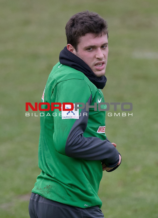 04.02.2014, Trainingsgelaende, Bremen, GER, 1.FBL, Training Werder Bremen, im Bild Zlatko Junuzovic (Bremen #16)<br /> <br /> Foto &copy; nordphoto / Frisch