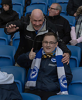 Brighton fans<br /> <br /> Photographer David Horton/CameraSport<br /> <br /> The Premier League - Brighton and Hove Albion v Wolverhampton Wanderers - Saturday 27th October 2018 - The Amex Stadium - Brighton<br /> <br /> World Copyright &copy; 2018 CameraSport. All rights reserved. 43 Linden Ave. Countesthorpe. Leicester. England. LE8 5PG - Tel: +44 (0) 116 277 4147 - admin@camerasport.com - www.camerasport.com