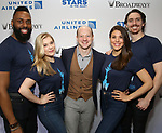 Jeremy Davis with the cast from 'Frozen' attends the United Airlines Presents: #StarsInTheAlley Produced By The Broadway League on June 1, 2018 in New York City.