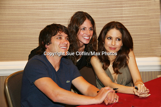Dominic Zamprogna - Lisa LoCiero - General Hospital (son & mother) with fans at Uncle Vinny's/Ferraras at the Crown Plaza in Trevose, Pennsylvania on April 22, 2010 to see fans with a q & a and autographs and taking of photos. (Photo by Sue Coflin/Max Photos0