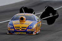 Nov. 1, 2008; Las Vegas, NV, USA: NHRA pro stock driver Rickie Jones during qualifying for the Las Vegas Nationals at The Strip in Las Vegas. Mandatory Credit: Mark J. Rebilas-