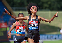 Sifan Hassan of the Netherlands wins the Women's 1500m race during the Muller Grand Prix  IAAF Diamond League meeting at Alexander Stadium, Perry Barr, Birmingham.<br /> Picture by Alan Stanford +44 7915 056117<br /> 18/08/2018
