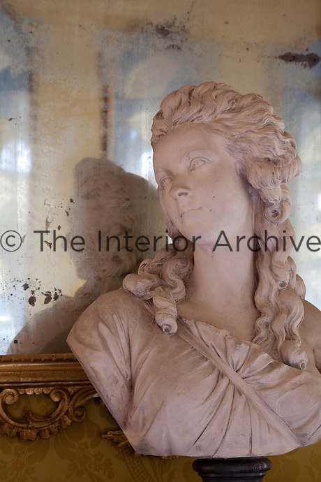 A late 18th century bust in the drawing room
