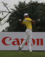 Pavit Tangkamolprasert (THA) in action on the 11th during Round 2 of the Maybank Championship at the Saujana Golf and Country Club in Kuala Lumpur on Friday 2nd February 2018.<br /> Picture:  Thos Caffrey / www.golffile.ie<br /> <br /> All photo usage must carry mandatory copyright credit (&copy; Golffile | Thos Caffrey)