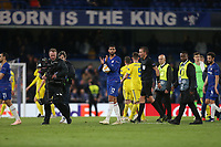 Chelsea's Ruben Loftus-Cheek with the match ball at the end of the game<br /> <br /> Photographer Rob Newell/CameraSport<br /> <br /> UEFA Europa League Group L - Chelsea v FC BATE Borisov - Thursday 25th October - Stamford Bridge - London<br />  <br /> World Copyright © 2018 CameraSport. All rights reserved. 43 Linden Ave. Countesthorpe. Leicester. England. LE8 5PG - Tel: +44 (0) 116 277 4147 - admin@camerasport.com - www.camerasport.com
